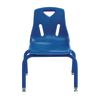12  Berries Stacking Chairs with Matching Legs Blue   Set of 6