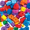 Colorations Jumbo Fun Shapes Foam Beads 500 Pieces