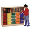 Mobile Classroom Organizer with Trays - Clear - 1 organizer
