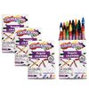Colorations Regular Crayons, Set of 24 Colors, 4 Packs
