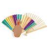 Colorations Fantastic Blank Paper Fans - Set of 12