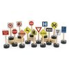 Excellerations® Premium Traffic Signs for Block Play - Set of 15