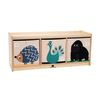 Environments® 3-Section Toddler Storage Cubby with Play Top