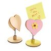 Colorations[r] Wooden Bobble Heart Note Holders - Set of 12