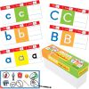 Feel, Trace and Write Alphabet Cards And Dry Erase Crayons - 59 pieces