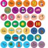 Alphabet Picture Stickers And ABC Sticker Books - 12 booklets