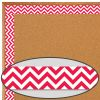 Poppy Red Chevron Borders