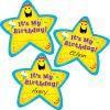 It's My Birthday Star Sticker Badges