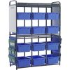 Storage Room Organizer For Leveled Literacy Program - 1 rack, 12 tubs