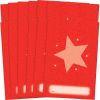 Star Folders, Red - 2 Pocket - 12 Pack