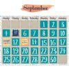 Confetti Splash Calendar Bulletin Board Set