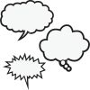 Black And White Speech Bubbles Magnetic Accents