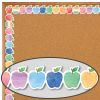 Watercolor Apples Diecut Border Trim