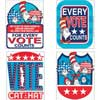 Cat In The Hat For President Sticker Badges