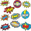 Superhero Sayings Accents - 30 pieces