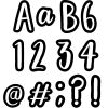 """Bold and Bright Classroom Cafe 4"""" Punch-Out Letters"""