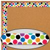 Bold and Bright Colorful Spots Border Trim - 35 feet of border trim