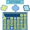 Blue Harmony Calendar Bulletin Board Kit - 119 pieces