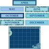Blue Harmony Calendar Bulletin Board Kit