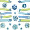 Blue Harmony Class Management Bulletin Board Kit - 89 pieces