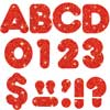 """Red Sparkle 4"""" Casual Ready Letters® - 72-piece set"""