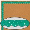 Teal Sparkle Scalloped Border Trim - 32.5 feet of border trim