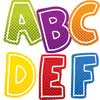 Super Power Alphabet Uppercase Letters Sticker Pack