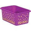 Confetti Small Plastic Storage Bins With Sleeves - Single Color 5-Pack