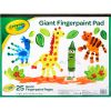 Crayola® Giant Finger Paint Pad – 25 Pages - 1 finger paint pad
