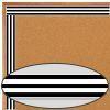 Industrial Café Black and White Stripes Straight Border - 1 border trim