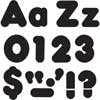 """Black 4"""" Casual Uppercase/Lowercase Letters"""