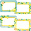 Lemon Zest Name Tag Labels