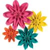 Beautiful Brights Paper Flowers - 4 paper flowers