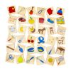 Match Three - Sorting Skills Activity - 36 Wooden Pieces