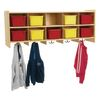 Value Line Wall Locker With 10 Coat Hooks And Cubbies - 1 unit