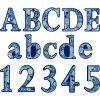 Blue Harmony Mandala Deco Letters - 217 pieces