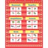 Marquee 10-Pocket Chart - Red