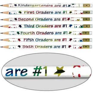 Make The Grade Pencils - 12 pencils.