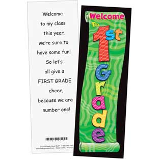 Grade-Specific Welcome Bookmarks