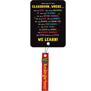 Welcome To This Classroom Zipper Pulls - 12 zipper pulls, 12 cards