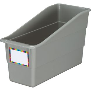 "Durable Book and Binder Holder, 5½""x12½""x7½"", Available in 18 Colors 1 Bin – Great for your home or classroom - Ideal for Narrow or Vertical Storage Needs like Magazines, Books, Folders – Color-Code Your Classroom - 1 bin"