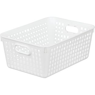 Large Plastic Desktop Storage Baskets 13 by 10 by 5 Single Basket Available in 7 DifferentColors Great For Your Home Storage or