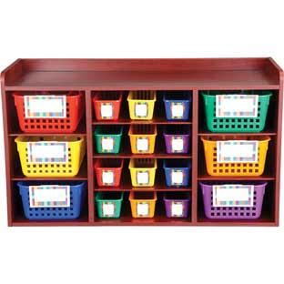 Teacher Materials Organizer With Baskets