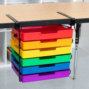 EZ Clamp™ Organization Station With 6-Color Trays