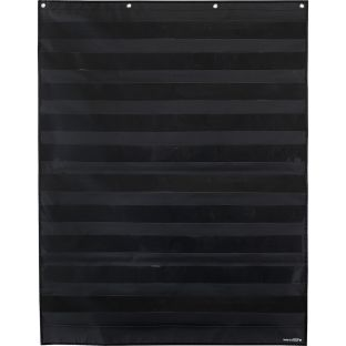 Large Rectangle Pocket Chart  Black - 1 pocket chart