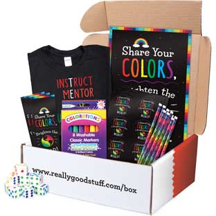 Teacher Gift Box - Share Your Colors! Themed Kit - 1 multi-item kit
