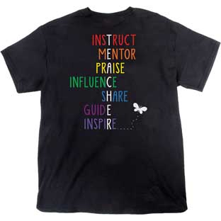 Rainbow-Themed Inspirational Teacher T-Shirt - 1 T-shirt