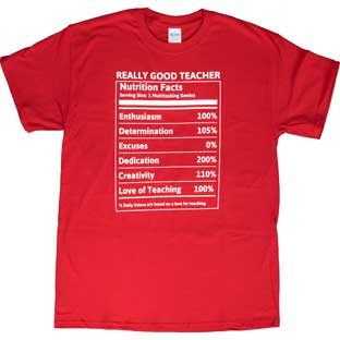 My Best Self Nutrition Fact T-Shirt
