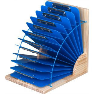 Clipboard Stand With 12 Single-Color Clipboards