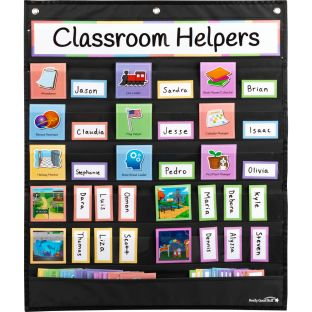 Classroom Helpers Pocket Chart and Cards - 1 pocket chart, 69 cards